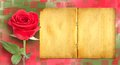 Grunge Ancient Used Paper In Scrapbooking Style With Roses Royalty Free Stock Images - 50776519