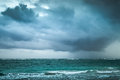 Stormy Clouds Over Atlantic Ocean. Sea Landscape Royalty Free Stock Photo - 50783805