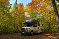 Roadtrip With Motorhome In Indian Summer Royalty Free Stock Images - 50790029