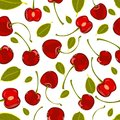 Seamless Pattern Of Hand-drawing Various Juicy Fruit Cherry Vector Royalty Free Stock Image - 50795696