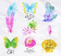 Signs Watercolor Nature Royalty Free Stock Image - 50797976