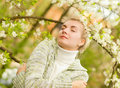 Woman Dreaming Outdoors Stock Photo - 5085400