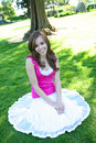 Pretty Girl In Shade Royalty Free Stock Image - 5087116