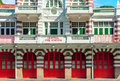 Vintage Retro Fire Station Building Royalty Free Stock Images - 50810829