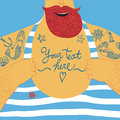 Mighty Seaman�s Chest  With Tattoos Royalty Free Stock Photography - 50819327