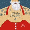 Vector Cartoon Illustration Of Mighty Santa Claus Chest Stock Photo - 50819560