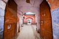 Entrance To The Old Indian House Through An Rusty Open Gate In Pink City Stock Images - 50821064