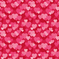 Seamless Love Hearts Background In Pink And Red Stock Image - 50834051