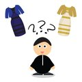 Puzzle What Color Of Dress White And  Gold Or Black Blue Stock Photos - 50834283