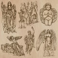 Angels - Hand Drawn Vector Pack Royalty Free Stock Photography - 50836367