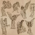 Angels - Hand Drawn Vector Pack Royalty Free Stock Images - 50836379