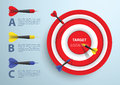 Dart And Target Infographic Template, Business Concept Stock Photo - 50846780