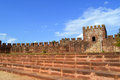 Silves Castle Tower In The Algarve Stock Photo - 50864610