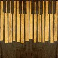 Abstract Musical Piano Keys - Seamless Background - Wooden Surfa Stock Image - 50873191