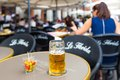 Pint Of Karlsbrau And Some Olives Royalty Free Stock Photos - 50875198