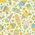 Ice Cream Pattern Stock Photography - 50878142