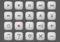 Web Interface Button Vector Computer Icon Set Royalty Free Stock Images - 50880839