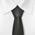 White Shirt And Black Tie Royalty Free Stock Photography - 50892297