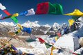 View Of Mount Everest With Buddhist Prayer Flags Royalty Free Stock Images - 50894299