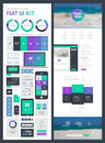 Flat UI Kit For Web And Mobile Stock Image - 50899081