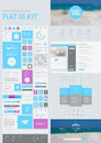 Flat UI Kit For Web And Mobile Royalty Free Stock Images - 50899119