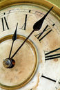 Old And Grunge Clock Face Royalty Free Stock Images - 5096909