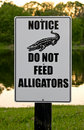 Do Not Feed Alligators Sign Royalty Free Stock Photography - 5098007
