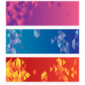 Set Of Three Abstract Banners Royalty Free Stock Photo - 50921745