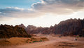 Desert With Mountains Royalty Free Stock Image - 50926596