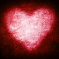 Grunge Frame , Heart Shape Red Color, Valentines Day Royalty Free Stock Photo - 50929905