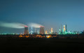 Oil Refinery At Night Royalty Free Stock Photo - 50937065