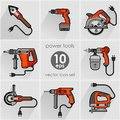 Power Tool Set. Vector Illustration Stock Photos - 50939253