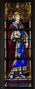 Stained Glass Window Of Saint Leopold III Stock Photography - 50941992