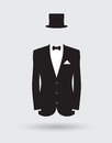 Grooms Suit Jacket Outfit Royalty Free Stock Photography - 50946497