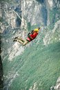 Rope Jumping.Bungee Jumping. Royalty Free Stock Photo - 50977065