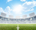 Stadium And Soccer Pitch Royalty Free Stock Photography - 50984077