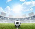 Stadium Soccer Pitch And Ball Stock Images - 50984394