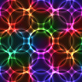 Neon Seamless Background With Circles Stock Photos - 51000953