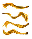 Abstract Golden Silk On White Background Royalty Free Stock Images - 51001059