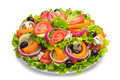 Fresh Salad With Tomatoes And Cheese Stock Photos - 51002903