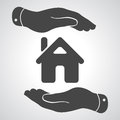 Caring Hands Icon - Protecting House Stock Images - 51003534