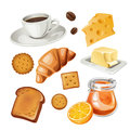 Vector Set Of Stylized Food Icons. Royalty Free Stock Photography - 51025987