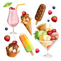 Vector Set Of Stylized Food Icons. Royalty Free Stock Photo - 51026015
