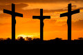 Jesus And Crosses Royalty Free Stock Photography - 51034177
