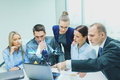 Business Team With Laptop Having Discussion Royalty Free Stock Photography - 51034577