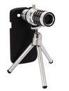 Telescopic Lens Attachment For A Smartphone Stock Photography - 51036962