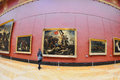 Tourists Look At The Paintings Of Eugene Delacroix At The Louvre Museum Royalty Free Stock Image - 51043176