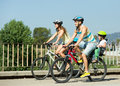 Family Of Four With Bikes Stock Photography - 51059252