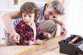 Grandfather And Grandson Royalty Free Stock Photo - 51081715