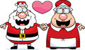 Cartoon Santa And Mrs Claus Love Royalty Free Stock Photos - 51085448